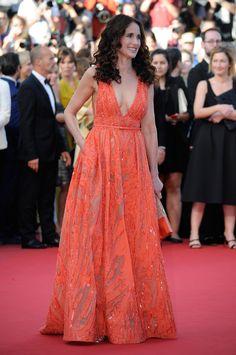 Andie MacDowell in Elie Saab Spring 2015 - 2015 Cannes Film Festival
