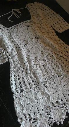 By Mariza Crochet Designer: Vestido Crochet .... inspiração!