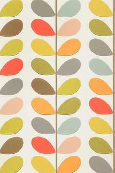Wall paper pattern retro orla kiely new ideas Retro Wallpaper, Trendy Wallpaper, Wallpaper Roll, Wall Wallpaper, Pattern Wallpaper, Wallpaper Ideas, Vintage Wallpapers, Wallpaper Wallpapers, Wallpaper Designs