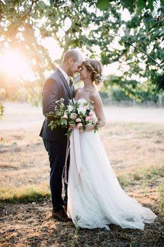 Gorgeous natural lighting wedding photo