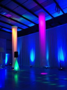 Pipe and drape with LED lights can transform any venue.