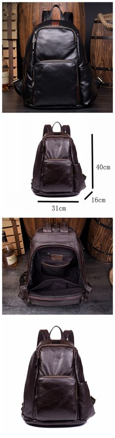 Handmade Leather Rucksack, Travel Bag, Bag and backpack