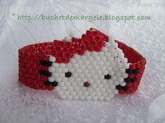 . Bouquet Beads: Hello Kitty red