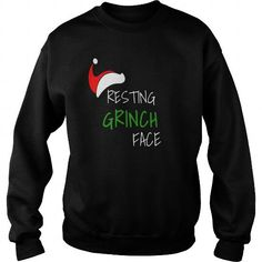 I Love Resting Grinch face funny Christmas Santa Hat tshirt T shirts