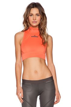 adidas by Stella McCartney Cropped Top in Toasted Orange | REVOLVE