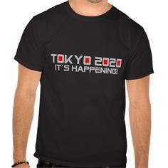 Tokyo 2020: It`s Happening! • Basic Dark T-Shirt