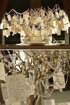 Guest book idea- well wishes tree