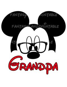 Mickey Mouse Glasses Classic Silhouette by FantasylandPrintable