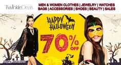 Celebrate the Hallowen with Twinkledeals.com get up to 70% + additional 10% discount on halloween items. Use the above Twinkle Deals Coupon Code at checkout. For more Twinkle Deals Coupon Codes visit: http://www.couponcutcode.com/stores/twinkledeals/