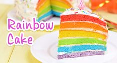 I am a big kid at heart and have been wanting to make a rainbow cake for AGES. What's great about this recipe is that it's not until you cut into the cake that you will see the rainbow coloured layers. To make one takes a little more time than just a regular Victoria sponge …