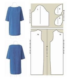 Schnittmuster: Kleid selber nähen blue dress with sleeves Schnittzeichnung The short dress with a boat neckline in jeans look and with is easy to sew with this guide even for beginners. Instructions: Sew on a dress with a boat neckline - Sewing Patterns Free, Free Sewing, Sewing Tutorials, Clothing Patterns, Dress Patterns, Pattern Dress, Free Pattern, Pattern Sewing, Diy Clothing