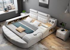 Bedroom sofa Design Images Inspirational Smart Bed with Multifunction Bluetooth Massage Tatami Big Storage Modern Bedroom Furniture, Smart Furniture, Bed Furniture, Living Room Furniture, Furniture Design, Furniture Ideas, Furniture Storage, Rustic Furniture, Office Furniture