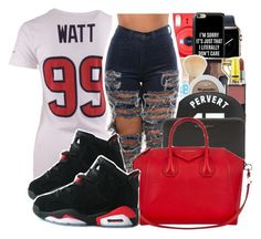 """""""In Honor of the Texans' First Win of the Season."""" by youngfashionaddict ❤ liked on Polyvore featuring NIKE, Fuji, Casetify, NARS Cosmetics, Givenchy, Lit, proudtexan and Wearetexans"""