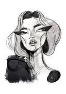 Face Sketch Face Art by Sara Woodrow (via nestpearls.)Sketch Face Art by Sara Woodrow (via nestpearls. Art And Illustration, Fashion Illustration Face, Graphite Illustrations, Art Drawings Sketches, Art Sketches, Arte Inspo, Arte Sketchbook, Arte Pop, Face Art