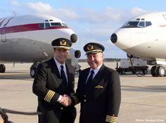 John Travolta in Qantas pilot's uniform