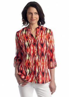Kim Rogers  Printed Linen Shirt