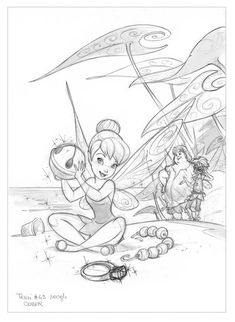 Disney Fairies Magazine - Rough Cover by Sara Storino —Please, don't remove credit—
