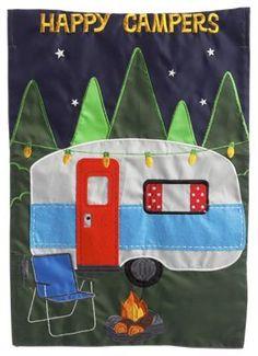 Evergreen Happy Campers Garden Flag