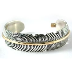 Sterling Silver & Gold-Filled Feather Cuff Bracelet sold at Fire & Ice, 375.00