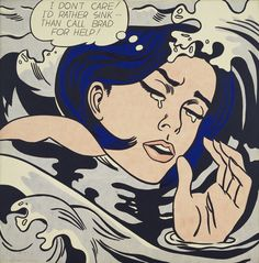 Roy Lichtenstein, 'Drowning Girl'