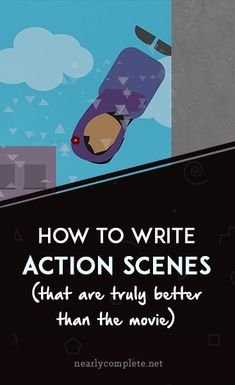 Action scenes aren't just about gratuitous kick-boom-woosh; they're about forcing your characters to show their true colors. Writing Tips For Beginners Writer Tips, Book Writing Tips, Writing Process, Writing Resources, Writing Help, Writing Skills, Writers Notebook, Writers Write, Cards For Men
