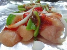 Sweet and Sour Chicken recipe is made is foil pouch perfect for the grill or campfire!