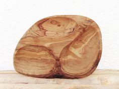 Engraved Natural Edge Wooden Natural Shaped Bowl 8.2 X 6 X 0.7