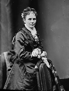 20th First lady Lucretia Rudolph Garfield (1832-1918). As First Lady, Mrs. Garfield researched the history of the White House furnishings with a view to restoring it to its former glory, but she contracted malaria and was unable to pursue the project.