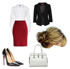 """Office"" by thelostandalone ❤ liked on Polyvore"