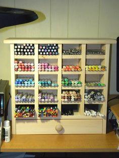Art Marker Storage Organizer Unfinished by HoleeStarsFurniture. $125.95, via Etsy.