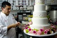 "Vanilla Cake Recipe PHOTO: Buddy Valastro decorates a cake as seen on ""Cake Boss"". Sweet Recipes, Cake Recipes, Dessert Recipes, Pasteles Cake Boss, Kitchen Boss, Perfect Vanilla Cake Recipe, Buddy Valastro, Reeses Cake, Fake Cake"