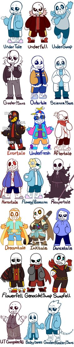 I never notice there was so many kinds of sans