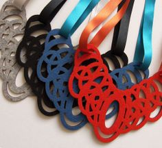 Loop Felt Necklaces by MarmaladePark, via Flickr