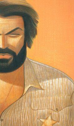 Andrea Serio's illustration of Bud Spencer