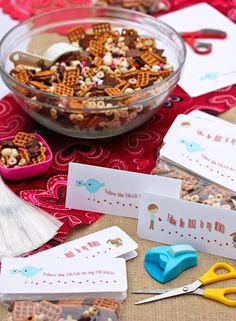 Follow the trail to my heart Valentine! Homemade Trail Mix Valentine Snack + Printable Tags