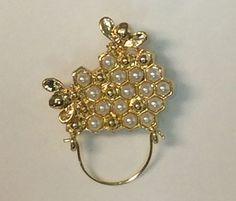 Bee HIve Charm & Eye Glass Holder Pin