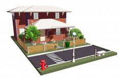 #Little #Home with #Garden on the #Road - #3d #Architecture © #Bluedarkat - on #123rf!