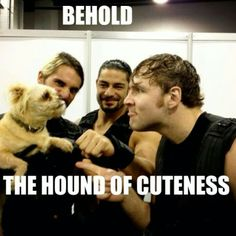 The Shield's new Mascot.... Sorry Dean Ambrose, you have been replaced.