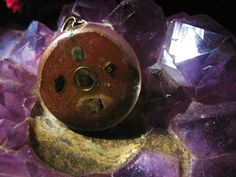 Tourmalined orgonite pendant by Orgoknights on Etsy, $14.00