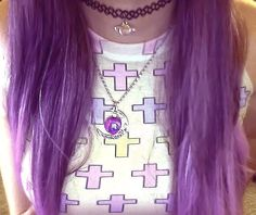 Purple space princess hair