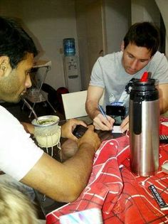 Lionel Messi Drinking Mate