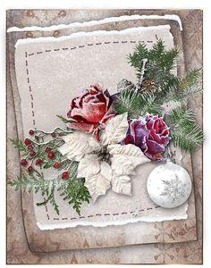 Obrázky k dopsání vlastního textu 2 | vánoční blog Christmas Paper, Christmas Wreaths, Decoupage, Holiday Decor, Blog, Home Decor, Art, Art Background, Decoration Home