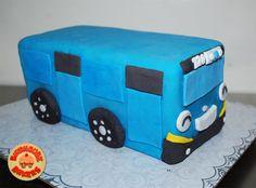 Tayo the little bus,   Dark chocolate cake with dark chocolate filling
