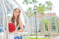 This beautiful bride arrived in style in Cinderella's Coach #Disney #wedding #Cinderella #coach #carriage