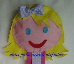 """Una preciosa muñeca para guardar los adornos del pelo de tu princesa, aprende hacerlo en el blog """"Ideas para crear y dirfrutar"""""""