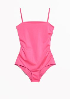 346decf11d80 Other Stories image 1 of Lace-Up Swimsuit in Pink Rosa Underkläder, Söta