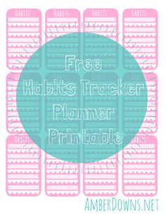 Free habits tracker planner printable. Perfect for you New Year's resolution. Works with Day Designer, Happy Planer, Erin Condren, kikki, and more.