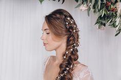 Trailing wildflower crystal bridal hairvine - Annette - Debbie Carlisle