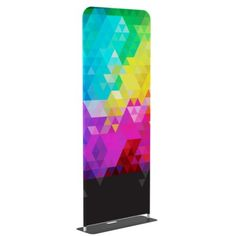 Tension Fabric Banner w//Premium Stand 48x90 Trade Show Display Double Sided Print.