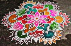 Rangoli Designs Latest, Latest Rangoli, Rangoli Designs Diwali, Rangoli Designs Images, Beautiful Rangoli Designs, Rangoli Ideas, Simple Rangoli, Peacock Design, Mandala Design